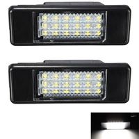 2x White 18SMD LED License Plate Light For Peugeot 106 207 307 308 406 407 508