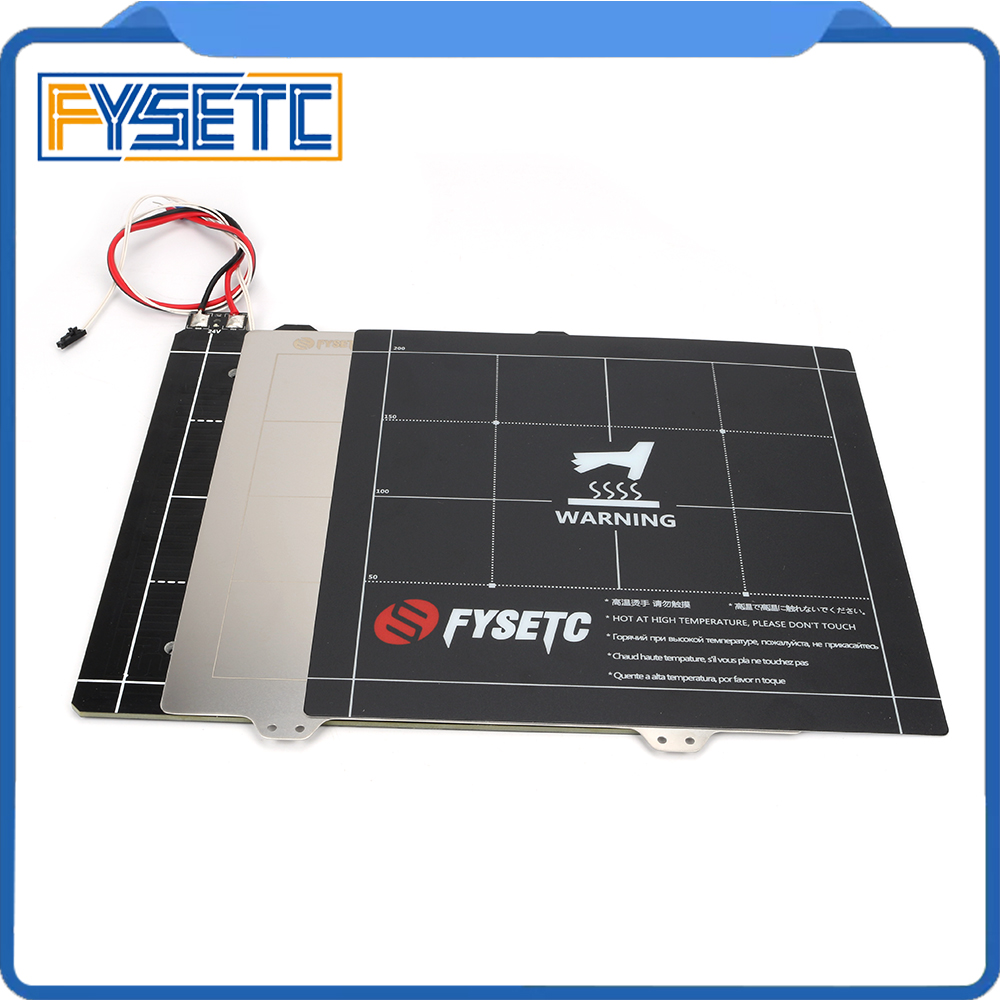 235*235mm 3D Printer Magnetic Heated Bed 24V Wiring Thermistor Kit With Steel Sheet For Ender-3/3S Creality 3D Printer Parts235*235mm 3D Printer Magnetic Heated Bed 24V Wiring Thermistor Kit With Steel Sheet For Ender-3/3S Creality 3D Printer Parts