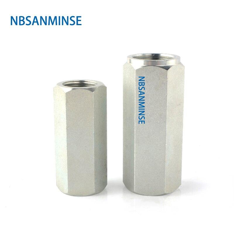 NBSANMINSE VU Check Valve Straight G1/4 3/8 1/2 3/4 1  Hydraulic Industry  Engineer Valve Carbon Steel High Pressure Valve