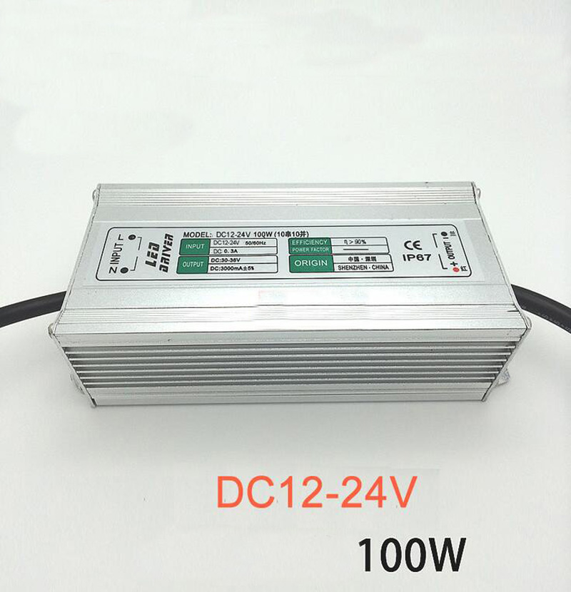 High quality LED 12V boost power driver 100W DC12-24V Low Voltage Spot lights 10 series 10 parallel connection 10pcs 100w 7000lm 525nm 100 led green light lamp module 10 series and 10 in parallel 30 34v