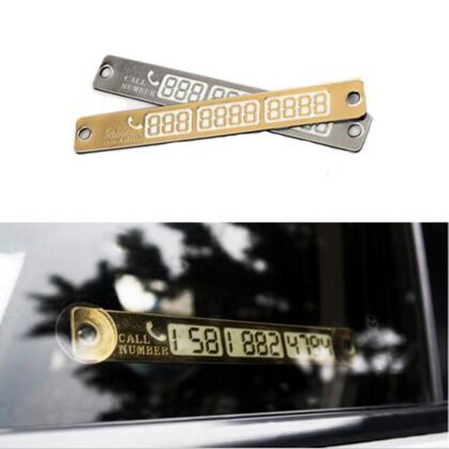 車発光一時的な駐車場カード通知吸盤プレートカード電話番号車スタイリング電話番号カード
