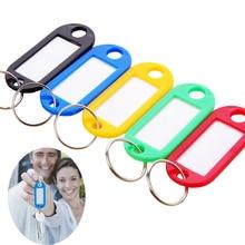 XUNZHE этикетки 20 шт цветные Пластиковые Брелоки для ключей багажные ID бирки брелоки с этикетками с именными картами