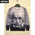 New Fashion 3d Men Sweatshirt Bored Dog Scientist Einstein Plump Girl Lion Joker Yeezus Printing Women and Men Couple Hoodies