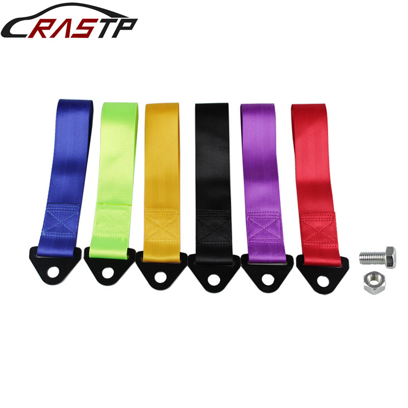 RASTP-Towing Rope Nylon Tow Eye Strap Tow Loop Strap Racing Drift Rally Emergency Tool Paste RS-BAG013A-NM