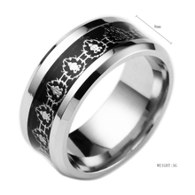 2017 Movie WOW Rings Stainless Steel the One Lord Anillos 316L Stainless Steel Men WOW Letter Bague Male Bijoux