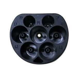 Image 5 - EV プラグ 16A 32A 3 相電源局側 IEC 62196 2 ヨーロッパ標準タイプ 2 男性電気車の充電器 AC 充電