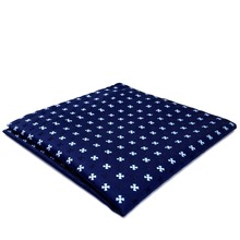 BH16 Navy Floral Mens Pocket Square Silk Fashion Classic Handkerchief Brand New Dress Hanky