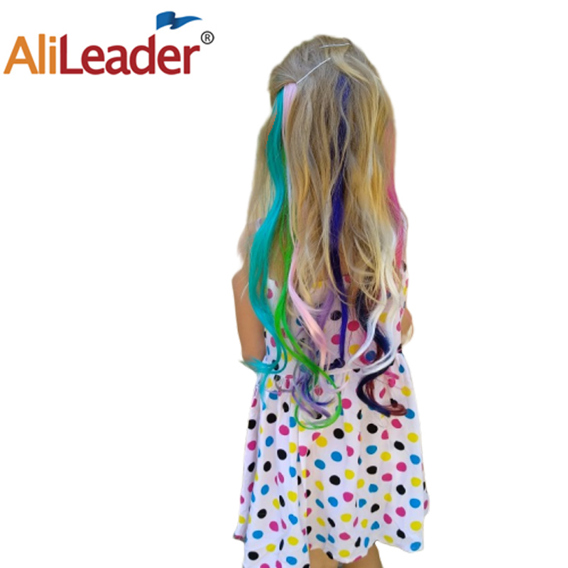 Alileader Heat Resistant 1 Clip In Long Body Wave Hair Extensions Fake Hairpieces 20