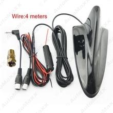 Черный Авто 3in1 Акульих Плавников F Разъем TRS 3.5 IEC Booster Автомобильные ТВ Антенны # J-888