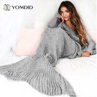 Mermaid Kuyruk Battaniye El Yapımı Iplik Örme Mermaid Battaniye Tığ Yumuşak Ev Kanepe Uyku Tulumu Çocuklar Yetişkinler Için Noel Hediyeleri