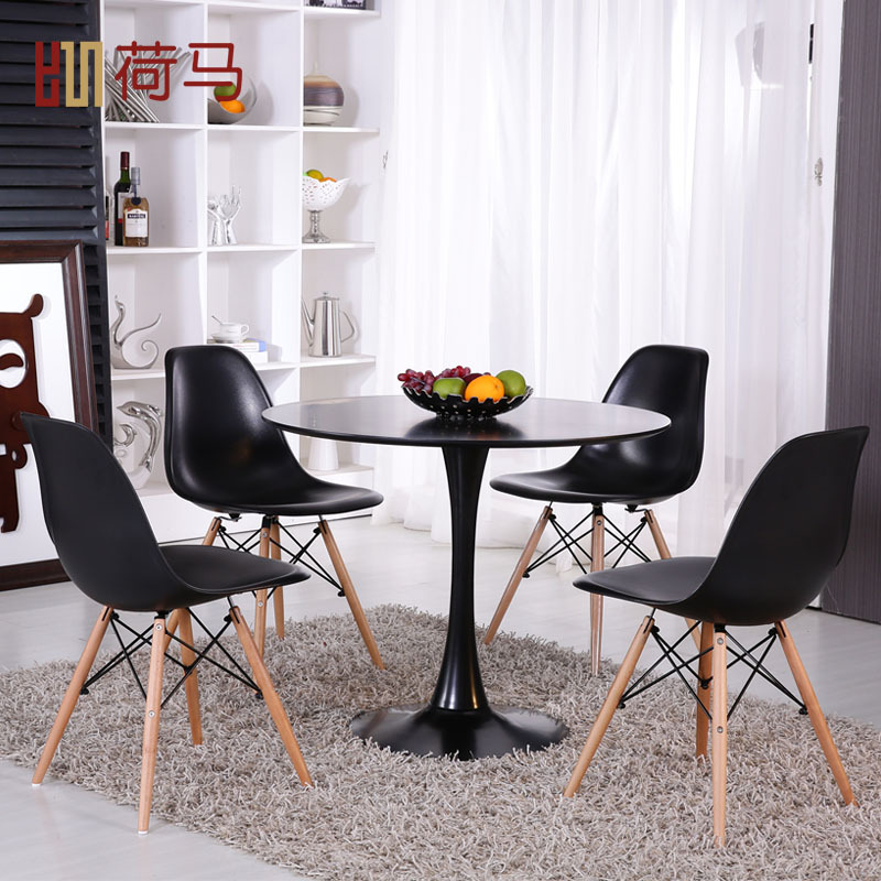 Tulip Table And Chairs Combination Roundtable To Discuss Tea Shop