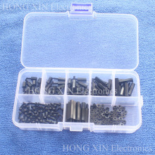 180pcs/ lot M2 Nylon Hex M-F Spacers / Screws/ Nuts Assorted Kit, Standoff