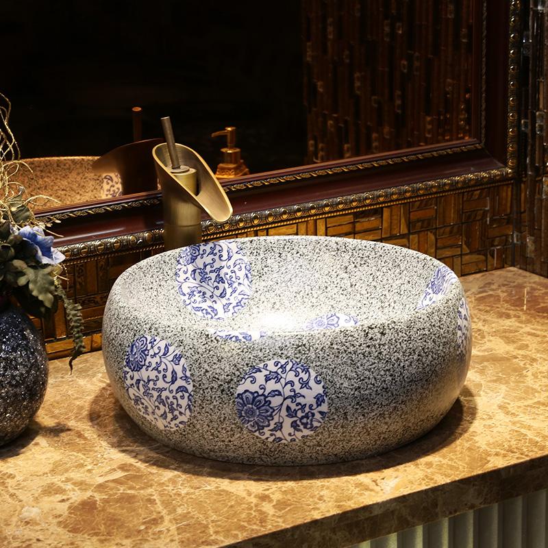 China Glazed Handpainted Ceramic Lavobo