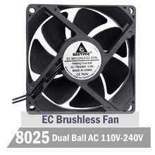 Gdstime Ball 80mm 8025 EC Fan 8CM 80MM X 80MM X 25MM EC Brushless Cooling Fan 110V 115V 120V 220V 240V Fan цена в Москве и Питере