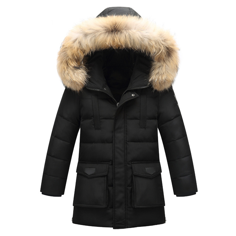 2016 New arrival Children's Down Jackets/coats Parkas fur boy Coat thick duck Down feather jacket Outerwears winter-40degree D10