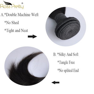 Image 3 - 페루 헤어 번들 클로저 pre prelucked straight hair 레이스 클로저 (번들 포함) human hair extension non remy