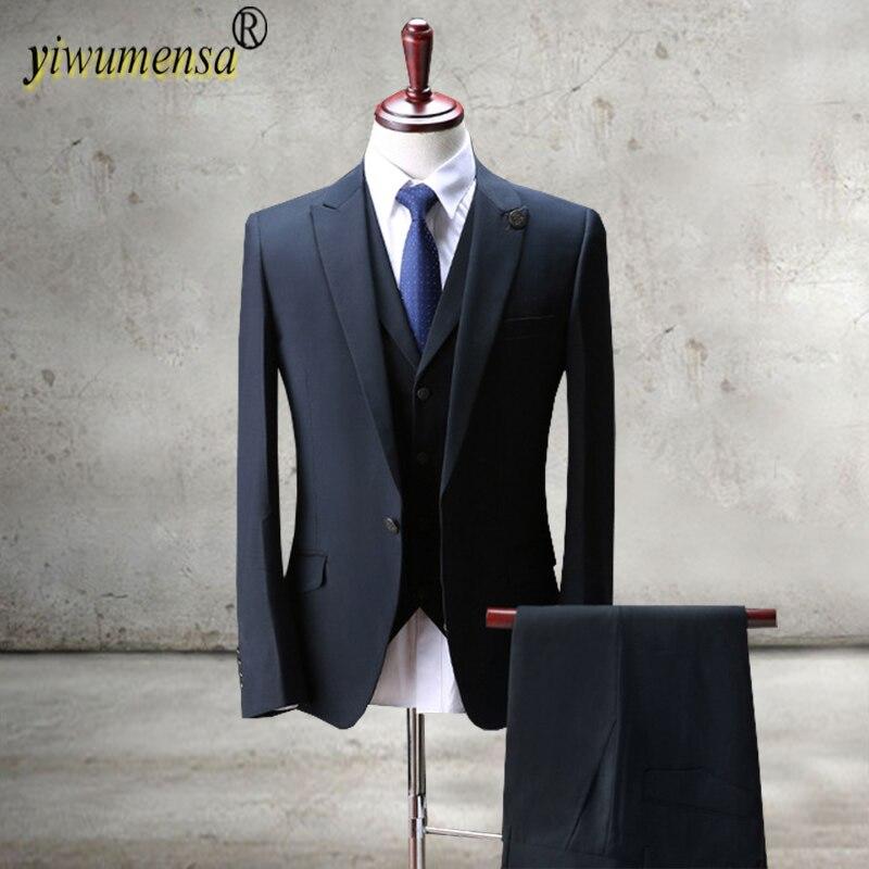 Blue Velvet Mens Suits Groom Best Man Blazers Costume Homme Buy Now Dynamic Fashion Bespoke Men Suit Set For Wedding Prom Dinner jacket+pants