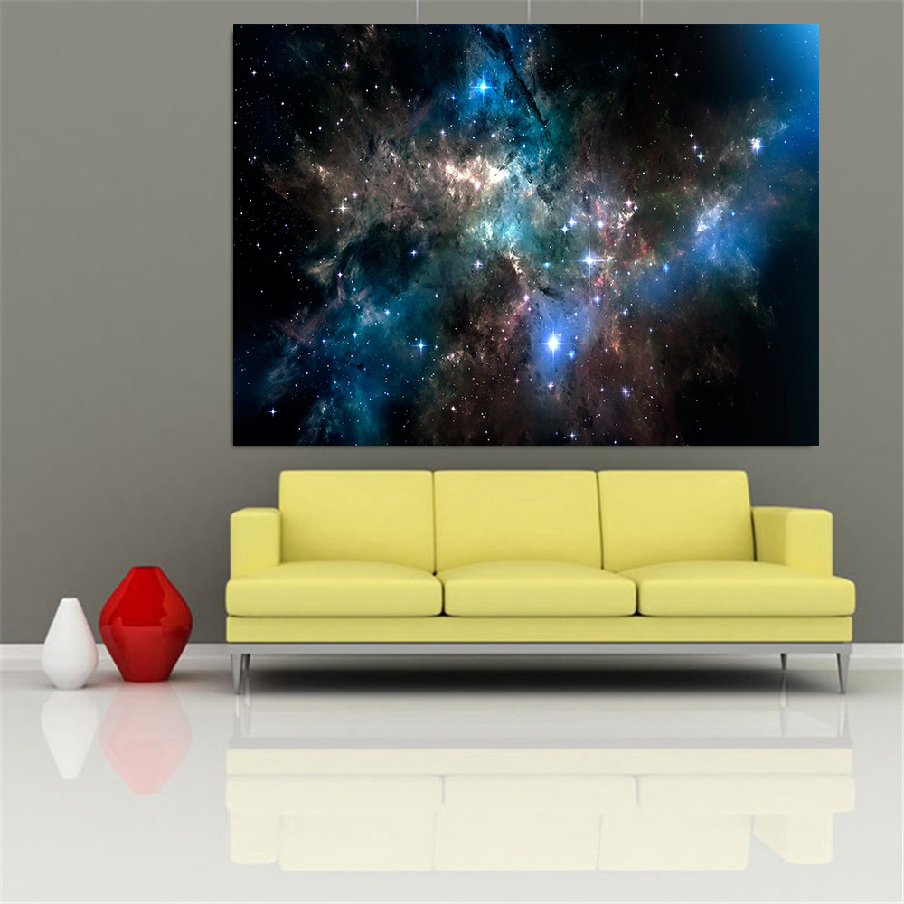 Andromeda Galaxy Milky Way Universe Space Stars Poster Prints Wall Art Home Decor Nebula Earth Moon Clouds Cuadros Decoration