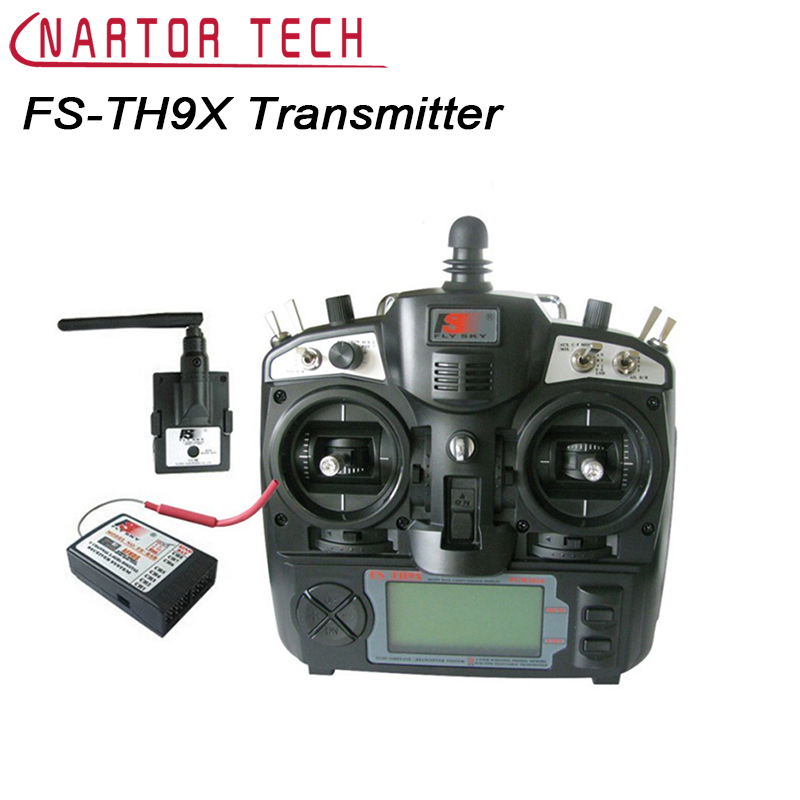 Free Shipping FlySky FS-TH9X 2.4G 9CH Transmitter Radio Set System with FS-R9B Receiver For Quadcopter Glider Helicopter Car цена