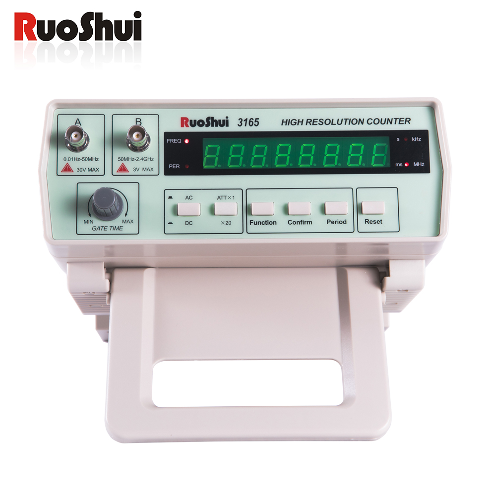 3165 Victor RuoShui Frequency Counter Highe Resolution Counter Frequency Meter Benchtop 0.01Hz~50MHz 50MHz~2.4GHz