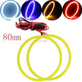 COB Angel Eyes 80 ММ!! 2 Шт (1 пара) Авто Halo Кольца 63 SMD COB 80 мм Ангел Глаза Фар Автомобиля Мотоцикла Белый желтый Синий 12 В