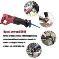 Professional Electric Saw For Wood Metal Cutting Universal 950W Reciprocating Saw Saber With Powerful Motor EU Plug Power Tool