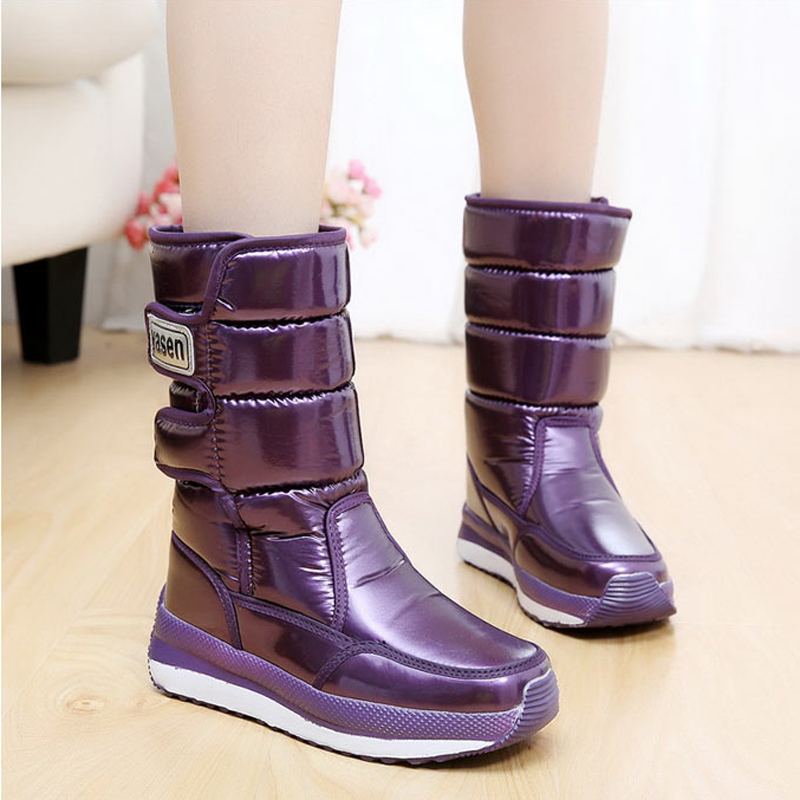 Women boots 2017 new arrivals Waterproof Slip-resistant women winter shoes thick plush high quality warm snow boots
