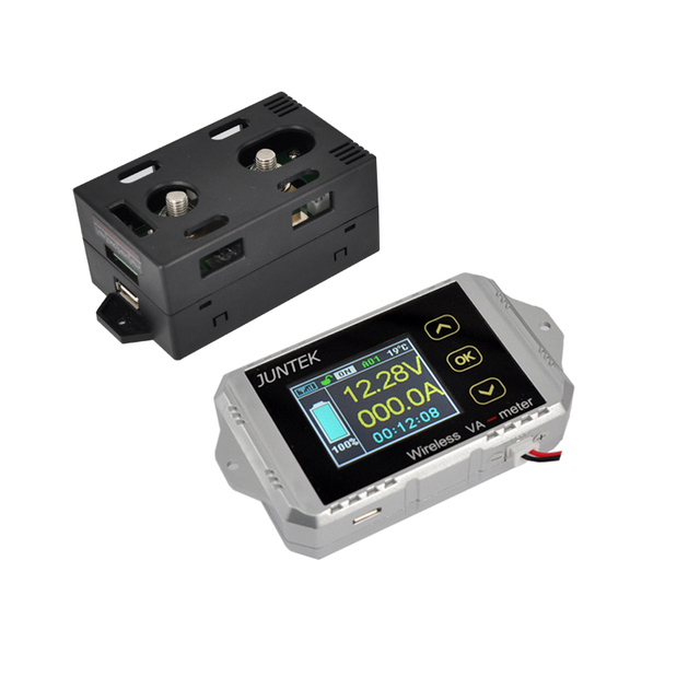 DC 100 v 100A Combo Meter Drahtlose Spannung strom KWh Watt Meter 12 ...