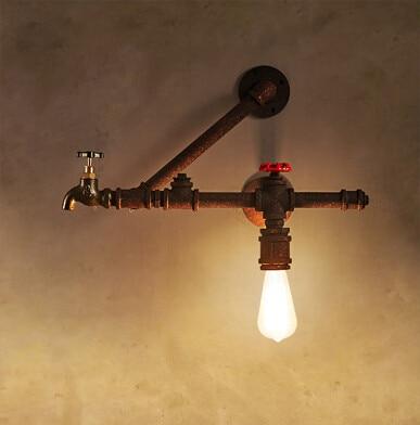 ๏Утюг промышленных Винтаж Эдисон бра водопровод стены ...