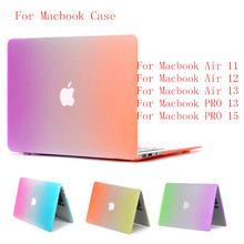 SIBAINA Rainbow Matte Case For Apple Macbook Air 13 11 Pro Retina 12 13.3 15.6 Laptop Bag Mac Book