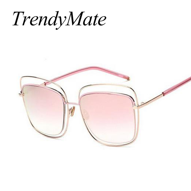 128b5d6ed91 New Square High Quality Fashion Brand Designer Sunglasses Men Women Mirror  Sun Glasses Lady Flat Oversized Size Eyeglasses 311M
