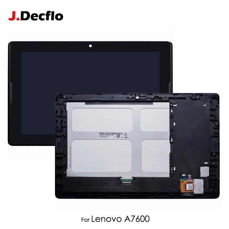 Écran lcd Pour Lenovo Tab A10-70 A7600 A7600-F A7600-H Écran Tactile Digitizer avec Cadre Assemblée Complet Remplacement 10.1 ''Noir