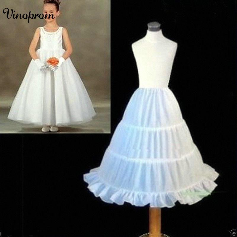 Flower Girl Dress 3 Hoop A Line Crinoline Petticoat Underskirt Children PETTICOA 2017