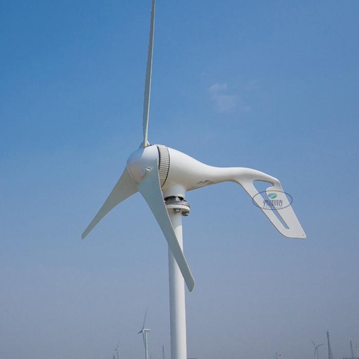 Ventilateurs de vent d'éolienne de 400 W 12 v pour le système hybride solaire de vent, 3 lames/5 lames facultatives avec le régulateur