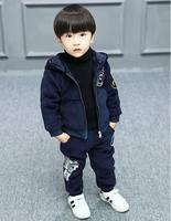 High quality winter boys cloth sets 2 pieces velvet boys clothes casual cotton fashion kids clothes new brand clothes