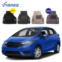 For Honda Fit Car Floor Mats Front Rear Carpet Complete Set Liner All Weather Waterproof Customized Car Styling