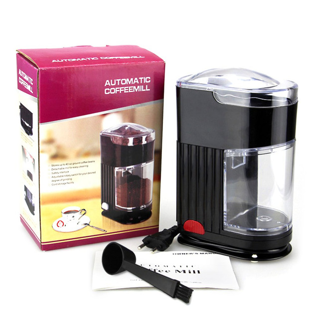 Home Coffee Grinding Machine Electric Portable Burr Mill Espresso Bean Grinder Powder Maker