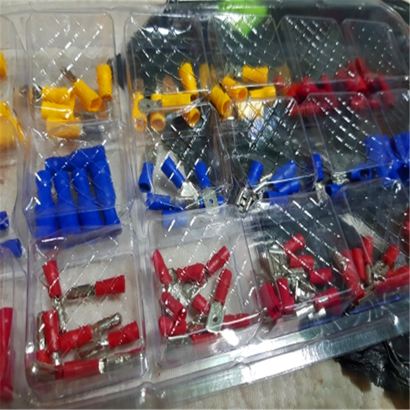 120pcs/lot New Insulated Electrical Crimp Connector Wire Terminals Assorted Kit 22-10AWG Red Blue Yellow For Cars Accessories 120pcs electrical wire crimp terminals assorted insulated cable connectors kit set 22 10awg with box