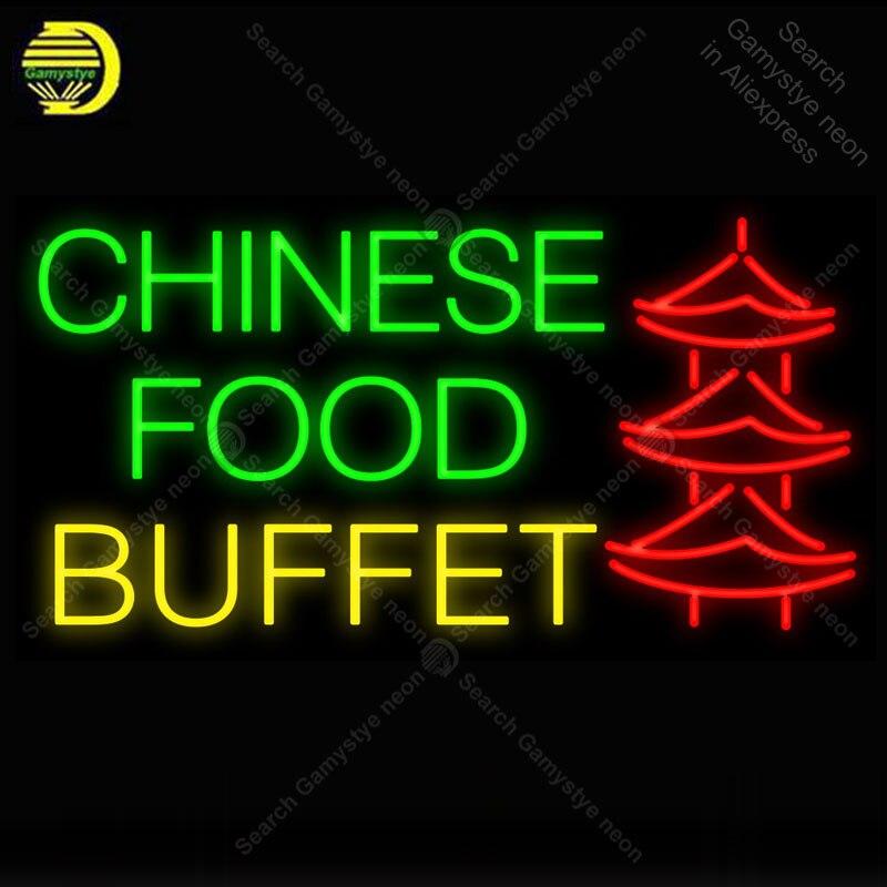 Chinois nourriture Buffet pagode néon lumière signe néon décorer hôtel bière PUB Pub nourriture signe affichage artisanat emblématique signe lumière