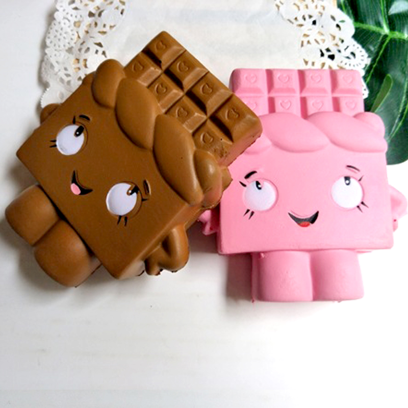 12CM Kawaii Huge Soft Chocolate Squishy Antistress Slow Rising Squeeze Kids Toys Gifts Office Relieves Stress Cute Decor Squishi