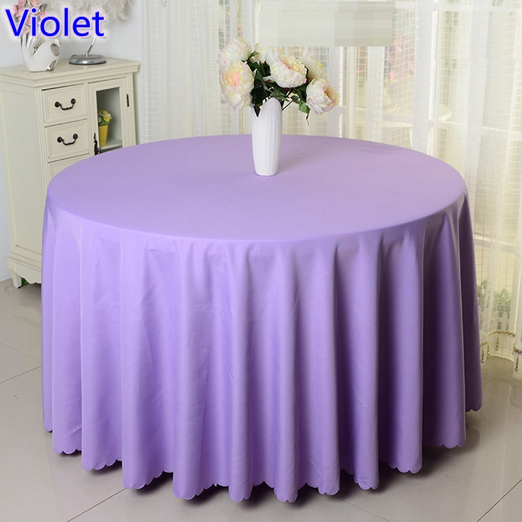 Aliexpress.com : Buy Violet Colour Table Cloth Waterproof,polyester Table  Cover,for Wedding,hotel And Restaurant Round Tables Decoration,200GSM Thick  From ...