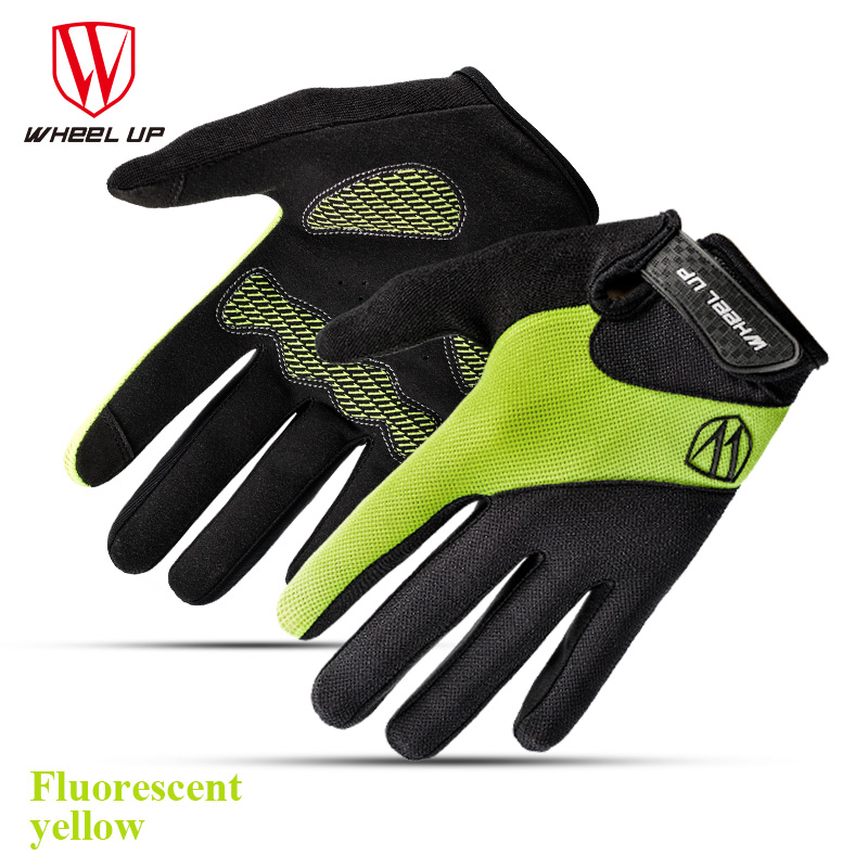 2017 New Touch Screen Gel Full Finger Cycling font b Glove b font For Man Woman