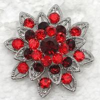 Red Rhinestone Brooch Bridal Wedding Party Pin Brooches C132 C