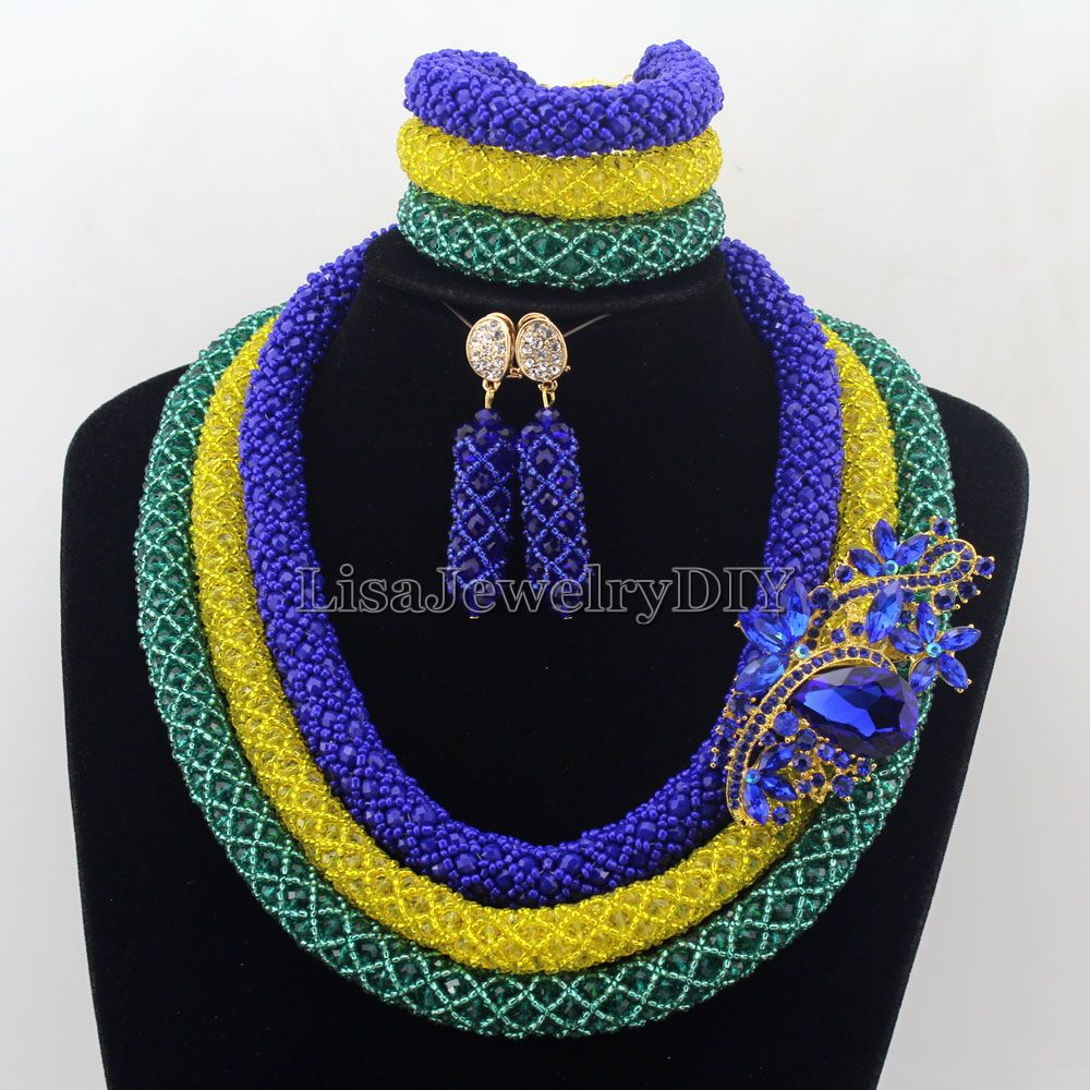 Nigerian Wedding African Beads Rushed Classic Women Crystal Jewelry Set New Arrived Nigeria Set Necklace Africa Beads HD7500Nigerian Wedding African Beads Rushed Classic Women Crystal Jewelry Set New Arrived Nigeria Set Necklace Africa Beads HD7500