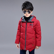 Kids boys winter padded jacket 2016 new baby boys fashion clothing big virgin warm coat 6/7/8/9/10/11/12/13/14 years