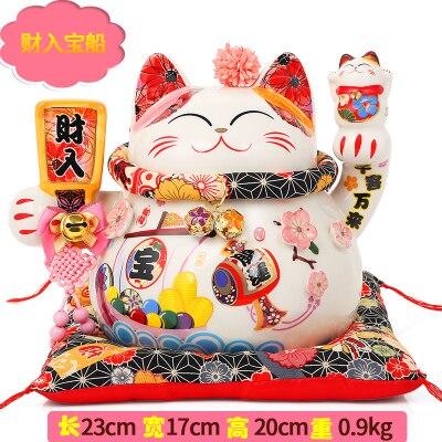 Un chat chanceux ornements en céramique trompette boutique ouvert enfants cadeau créatif économies japonais société salon petits ornements