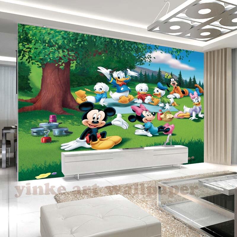 Custom 3D photo wallpaper study room hand painted cartoon animal mural Children room  sofa background wallpaper papel de parede Обои