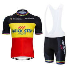 2019  QUICK STEP cycling jersey gel pad bike shorts set MTB Cycle Clothes Ropa Ciclismo mens pro summer bicycling Maillot wear цена и фото