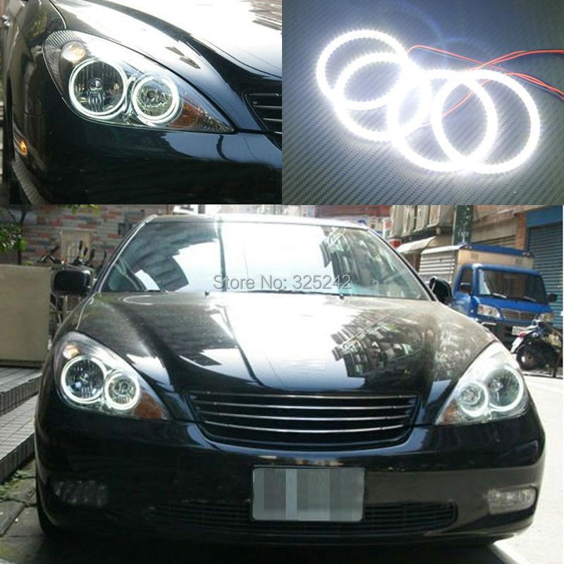 ФОТО For Toyota Windom MCV30 2001 2002 2003 Excellent Angel Eyes Ultra bright illumination smd led Angel Eyes kit Halo Ring
