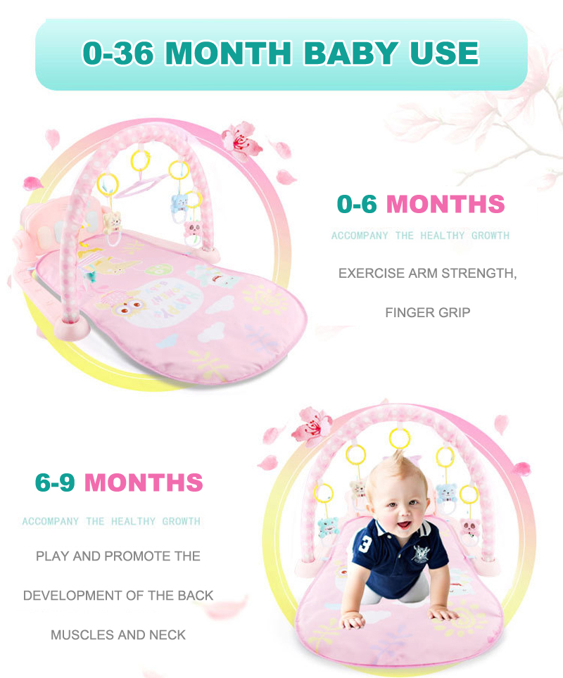 HTB1Hpy B2iSBuNkSnhJq6zDcpXaB Play Mat Baby Gym Toys Gaming Carpet 0-12 Months Soft Lighting Rattles Children's Music Mat Blue Pink Baby Gifts Educational Toy